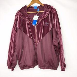 ADIDAS Originals Velvet Vibes Oversized Jacket NWT